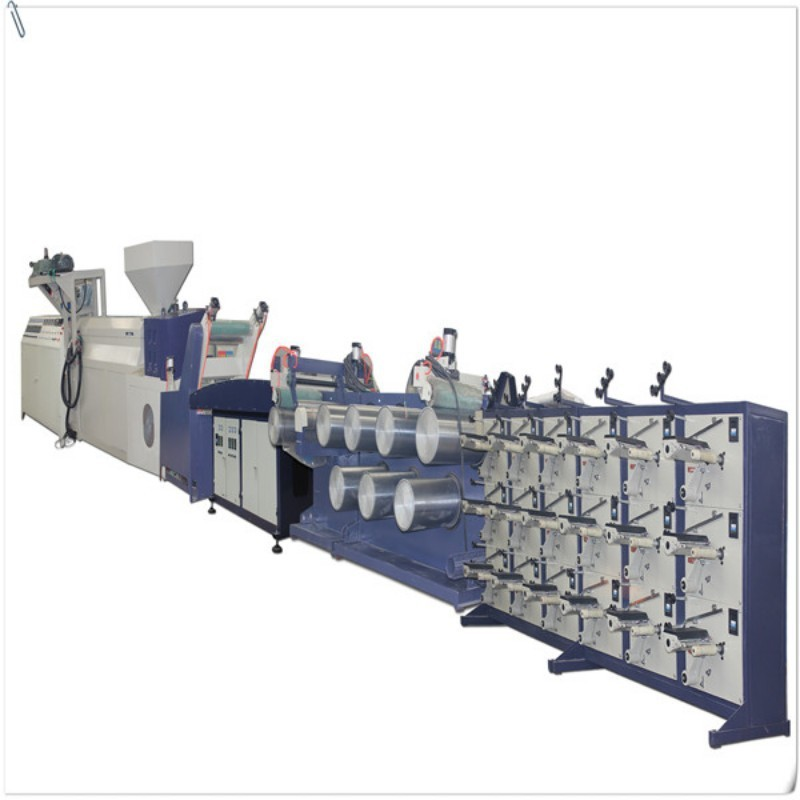 Plastic film tape making machiner/rope cord making plant