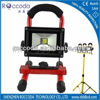 Hot sell 2014 IP65 LED flood light 10w rechargeable portable work lights emergency kit outdoor lamp