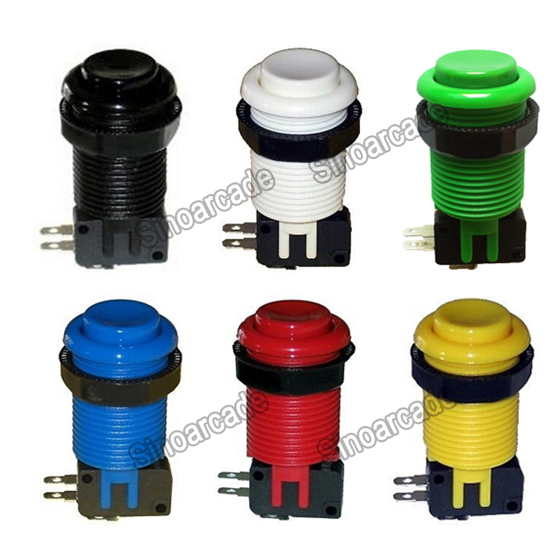 Arcade American HAPP Style Push Button with Microswitch for Jamma MAME <strong>Game</strong> 6 colors available