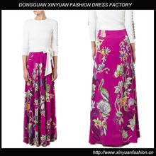 New Latest Floral Print Fashion Skirts Designs For Women,Women Floral Print African Long Skirts for Ladies