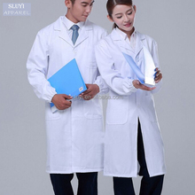 hospital staff uniforms physician services white lab coat long-sleeve and short sleeve nurse doctor uniform for doctors