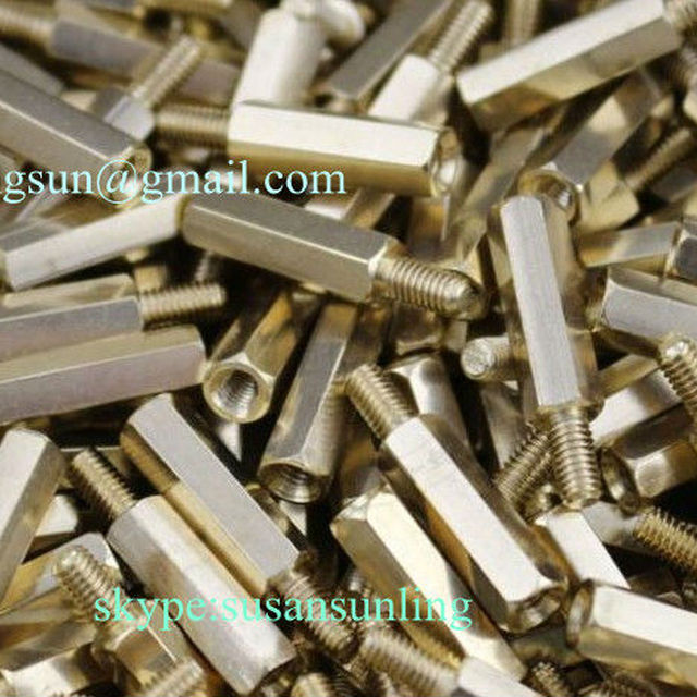 brass male thread female nuts coupling