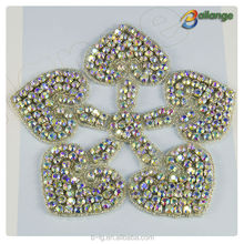 handmade bridal rhinestone applique decoration wholesale sewing accessories for wedding dress