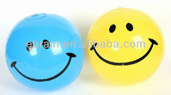 Smiley Face Inflatable Beach Ball