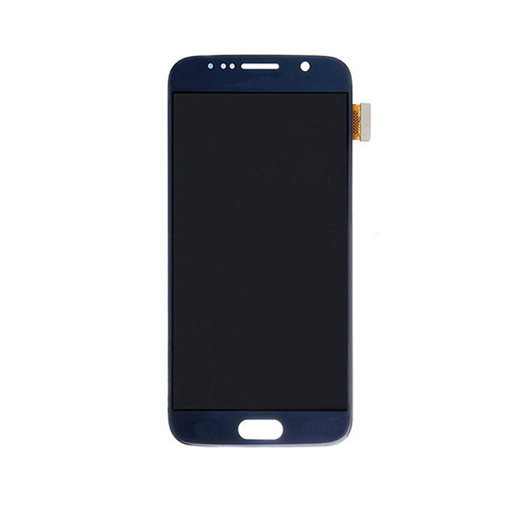 Blue 5.1 inch LCD display For Samsung Galaxy S6 G920 with frame LCD Screen