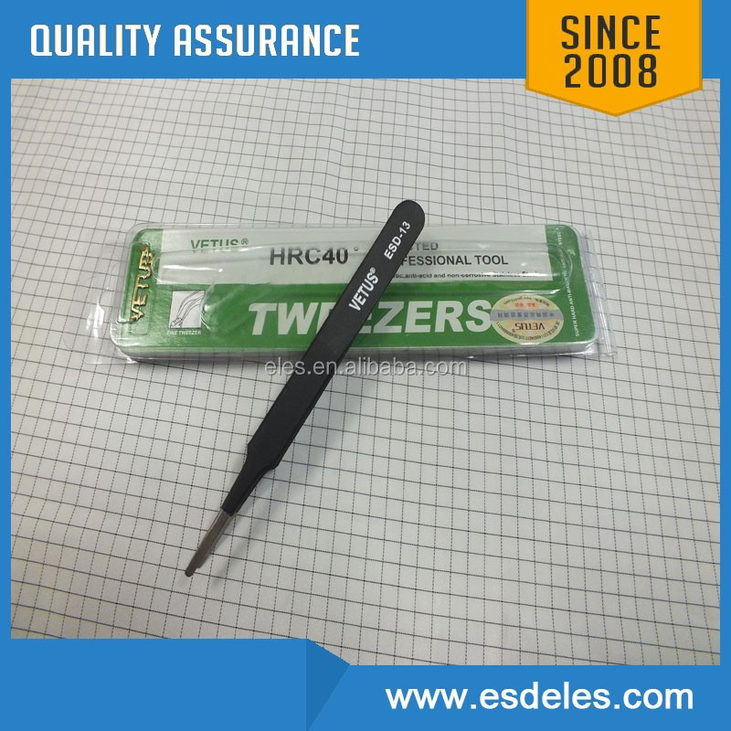 OEM antistatic tweezers Vetus blackhead tweezer