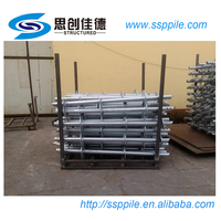 earth small strong and best ground screw soil piling auger