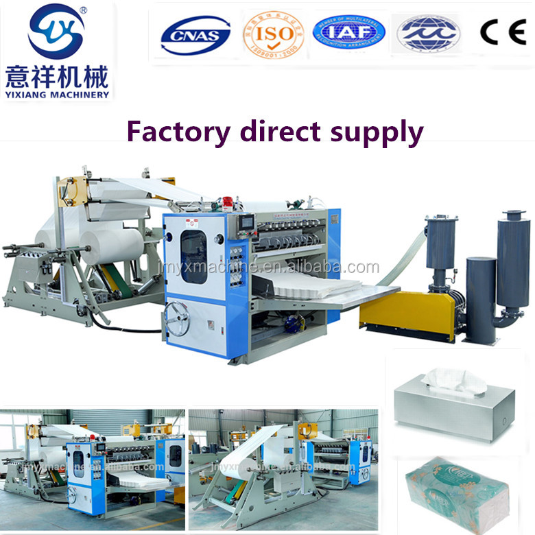 Industrial Equipment Facial Tissue Paper Folding Machine For Sale