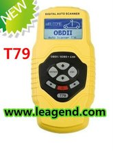 2013 highend vehicle diagnostic tool/OBD2/EOBD auto digital Scanner T79 in yellow -6 languages ,Data print out,live data graph