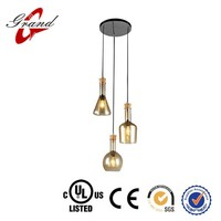 Kitchen glass globe pendant light with UL & CE certification