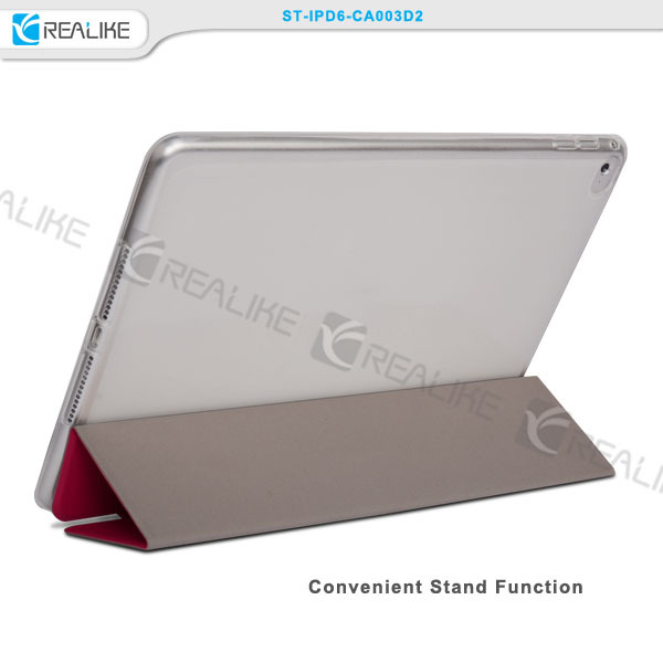 Hot sale soft fold leather 13 inch tablet pc case