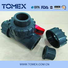 Handle plastic pvc water three way valve made in China