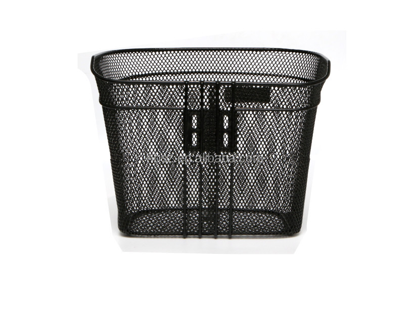 top-selling black bike basket steel wire/good quality strong bicycle front basket