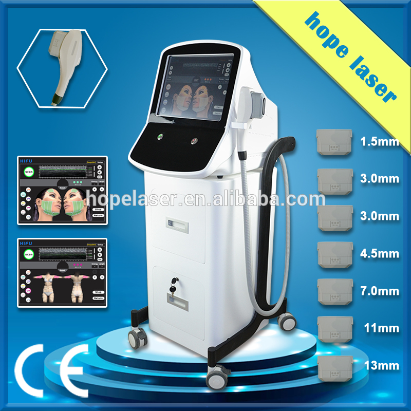 hifu 7 heads hifu body contour machine for beauty salon