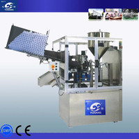 cream filling machine plastic tube filling and sealing machine, soft tube filler and sealer, high speed performance