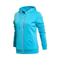hot sale fashion women's fleece hoodie jacket