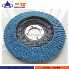 Abrasive Flap Disc 4 1/2'' 80 grit Zirconia T27 for stainless steel