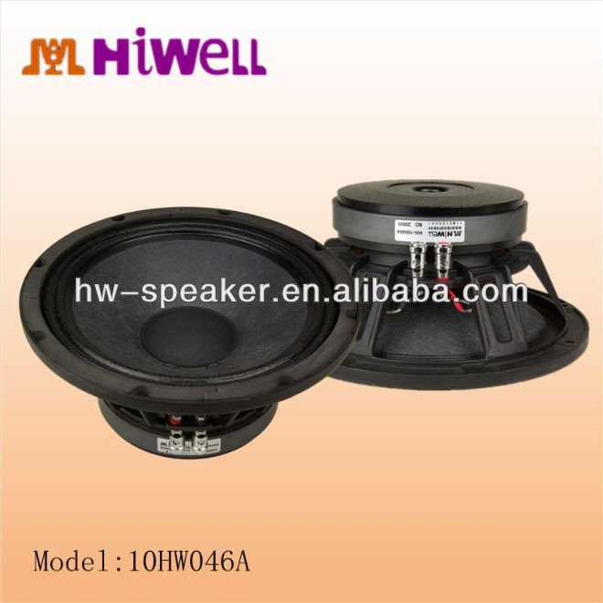 audio sound application woofer 10 inch speakers