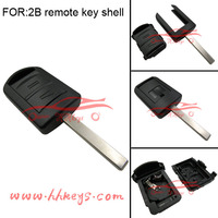 Opel HU100 Blade Car key shell replacement Opel 2 burttons remote car plastic key covers no Chip and battey inside