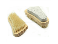Wholesale Wooden Scrub loofah brush/wooden foot brush