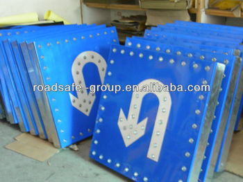 RSG Aluminum material Solar Luminous Traffic Signs