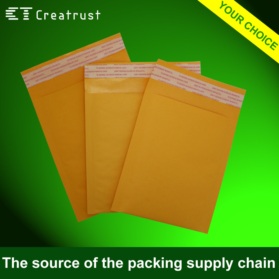 Gold Poly Bubble Courier Express Bag kraft Paper Customized Printed Air Bubble Mailer