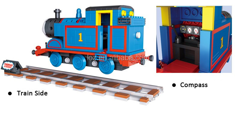2017 DIY LOZ mini train blocks Plastic brick toy Building block