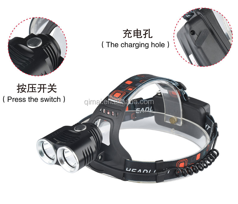 head flashlight 6000 lumen led headlamp led rechargeable headlamp battery pussy flashlight most powerful headlamp