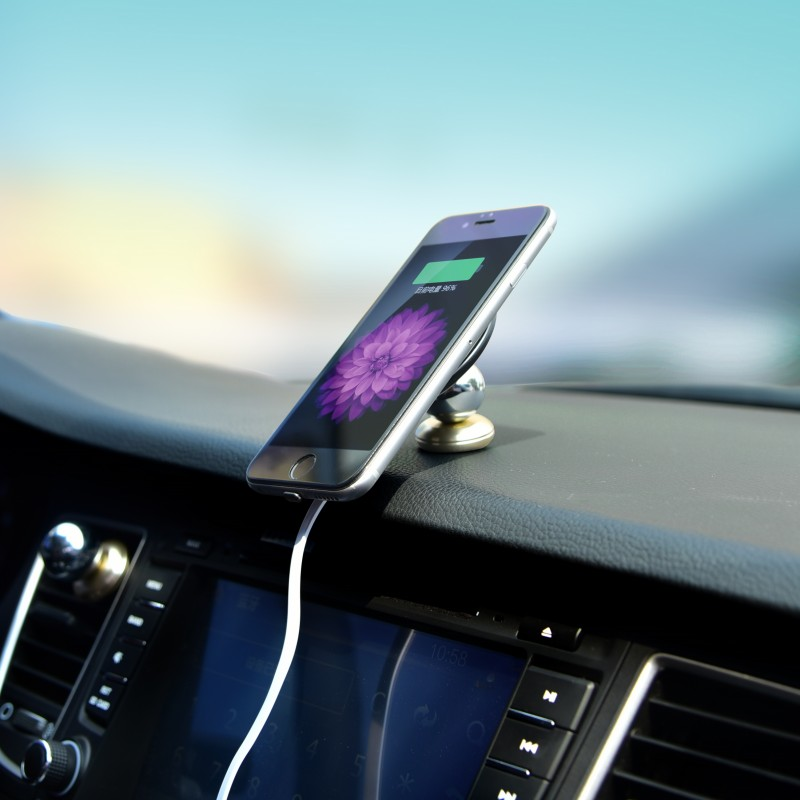 Wireless Charger Car Mount Holder 3 in 1 Magnetic Wireless Charging Pad Station and Receiver for iPhone 6 7 7plus