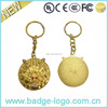 Golden Rhinestone-entrusted Custom Keychain
