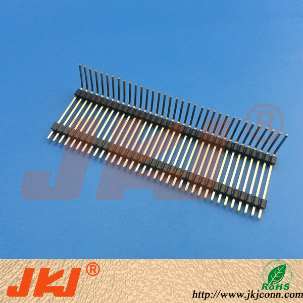 1.5mm pitch 14pin Single Row Right Angle Pin Header