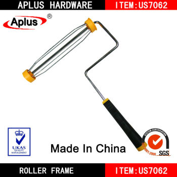 "9"" american system yellow caps paint roller handle"