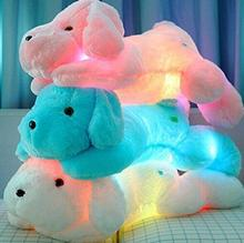 Led light electric dog plush stuffed toy