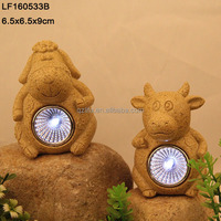 resin solar dancing animals light