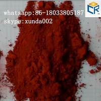 Factory price iron red pigment iron oxide red 130 (ci 77491) for paints pavers bricks tiles colored mulch cement tiles