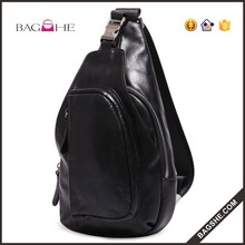 New fashion men chest bag outdoor sling leather bag leather camera bag