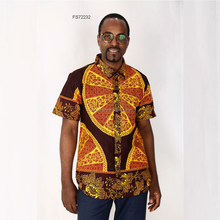 Ready made 100% wax cotton stand collar men formal shirts african style clothing