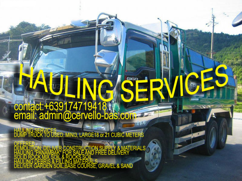 HAULING SERVICES TRUCK RENTAL