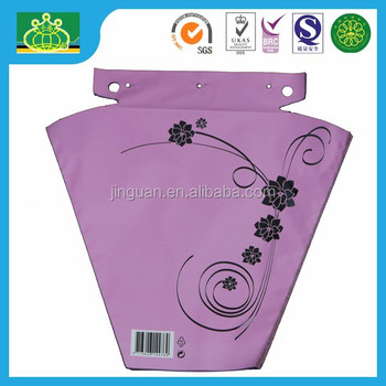 OEM nice printing custom packaging for flowers with block header