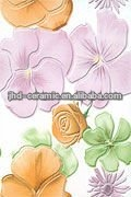 flower pink ceramic bathroom wall tile