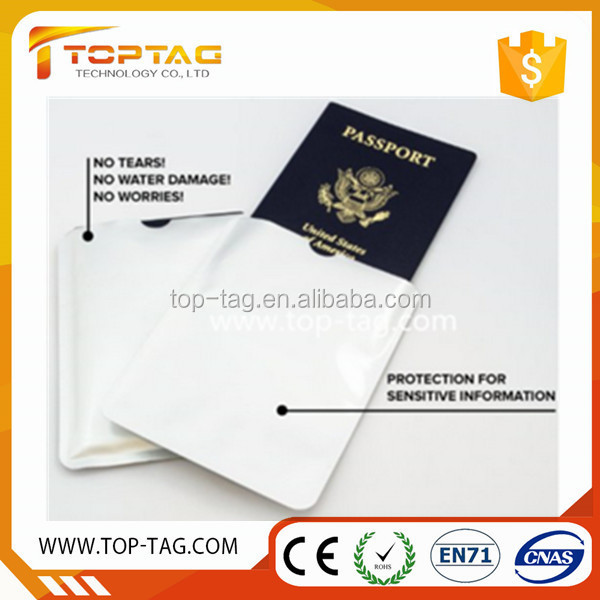 Anti identity theft RFID blocking sleeve protection for German passport