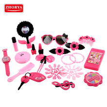 Zhorya wholesale 20pcs fashion pink beauty kids makeup set