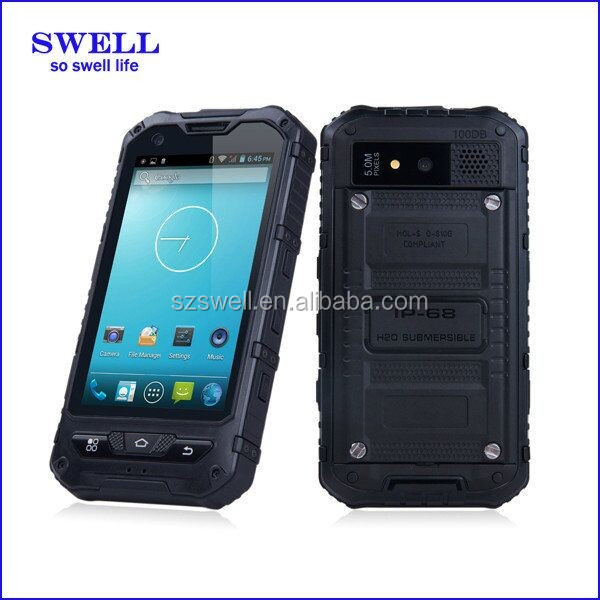 mobile phone IP67 water-shock-dust proof 4inch military phone android quad core dual sim 3G/2G NXP NFC A8S