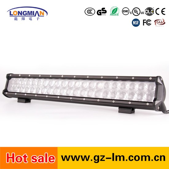Illuminator LED driving light bar for offroad spotlights for car roof rack light 126w 20inch