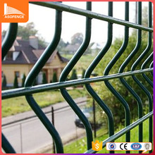 factory supply green 3d fold rubber coated wire mesh fence