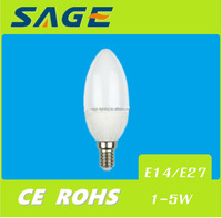 E27 E14 C37 3w Led Candle Bulb for Chandeliers Candle LED