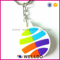 Promotion gifts rubber keyring custom