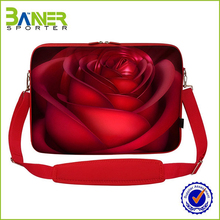 neoprene red laptop cum office bag for ladies