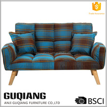 Adjustable Tartan Fabric Sex Sofa Chair With Click Clack Sound In Different Position