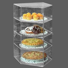 4Tiers dustproof Clear Acrylic bakery display Acrylic cake showcase